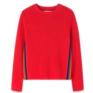 Tory Burch Sport Merino Wool Stripe Sweater